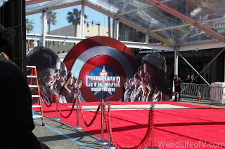The end of the red and blue carpet