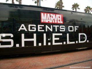Agents of S.H.I.E.L.D. trolley wrap during San Diego Comic Con 2013