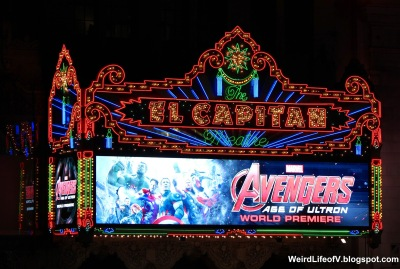 Avengers: Age of Ultron on the El Capitan Theatre marquee
