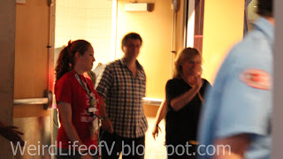 Steven Moffat and Sue Vertue arrive at the SherlockeDCC party