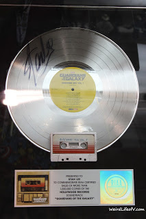 Guardians of the Galaxy Soundtrack\'s platinum record signed by Stan Lee