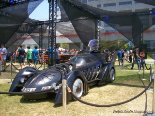 Replica Batmobile on display behind the San Diego Convention Center during San Diego Comic Con 2012