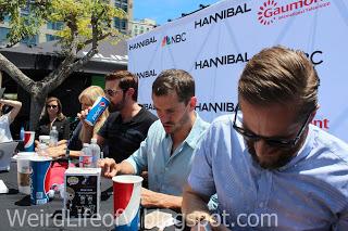 Richard Armitage, Hugh Dancy, Bryan Fuller signing for fans - San Diego Comic Con 2015