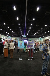 Very wide aisles on the exhibition floor